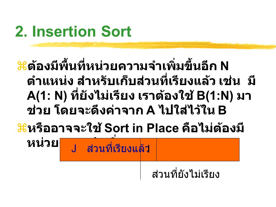 2. Insertion Sort