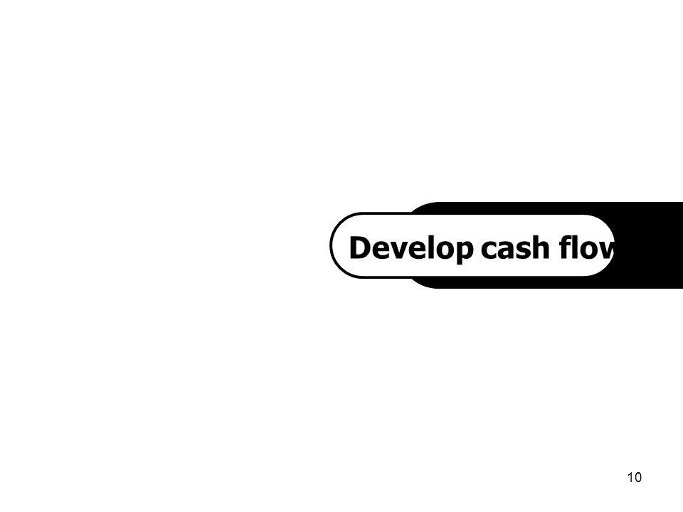 Develop cash flow project