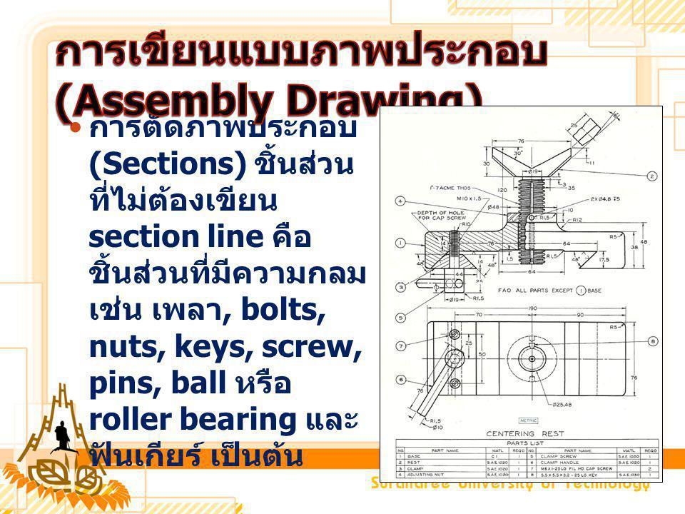 การเขียนแบบภาพประกอบ (Assembly Drawing)