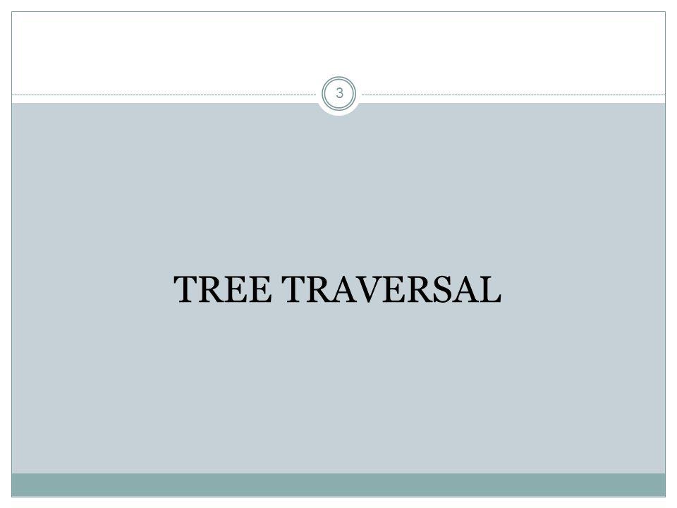 TREE TRAVERSAL