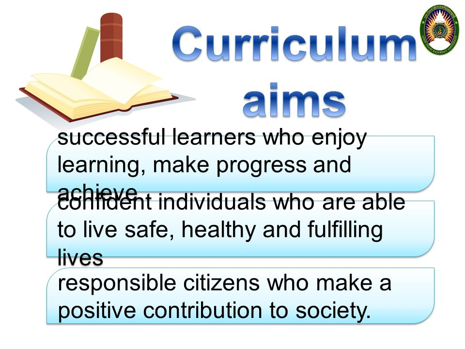 Curriculum aims successful learners who enjoy learning, make progress and achieve.