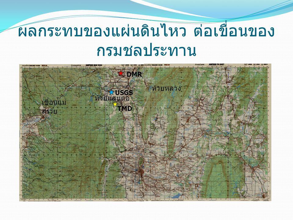 ผลกระทบของแผ่นดินไหว ต่อเขื่อนของกรมชลประทาน