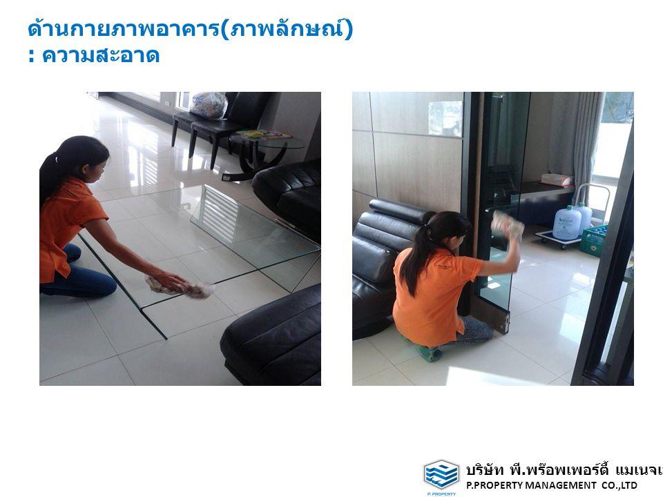 ด้านกายภาพอาคาร(ภาพลักษณ์) : ความสะอาด