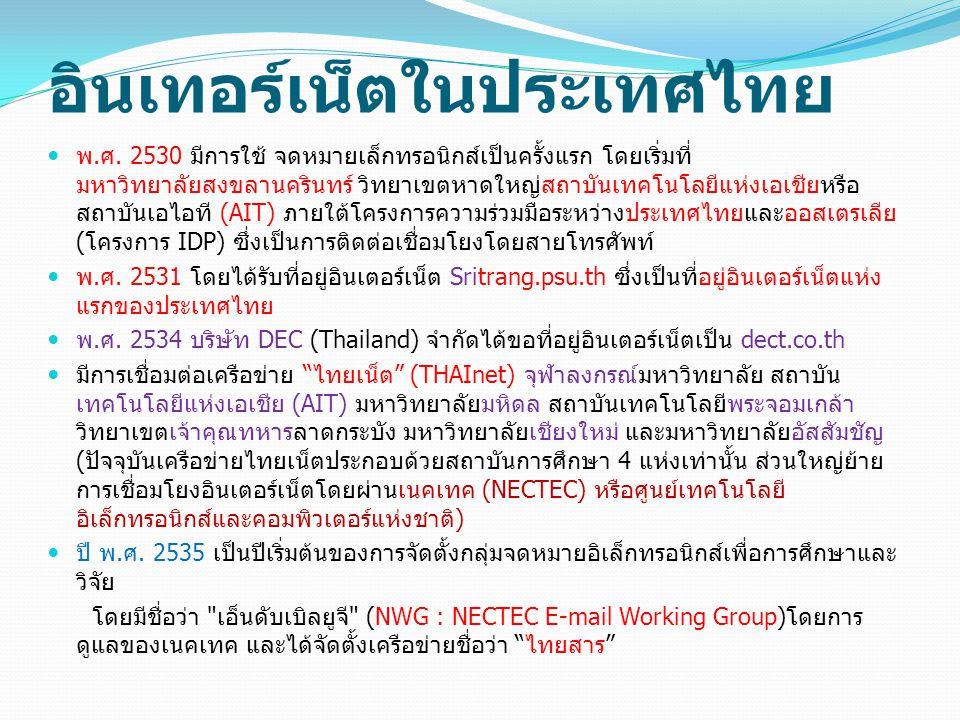 อินเทอร์เน็ตในประเทศไทย