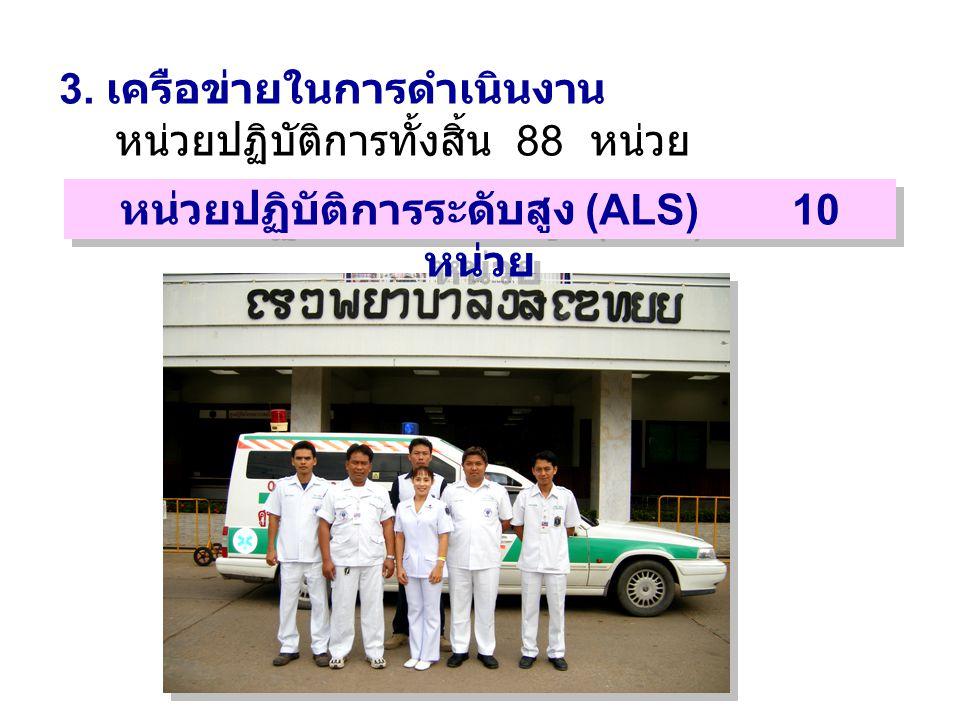 หน่วยปฏิบัติการระดับสูง (ALS) 10 หน่วย