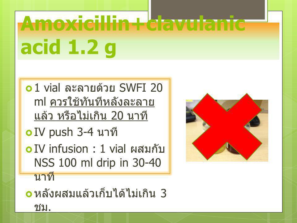 Amoxicillin+clavulanic acid 1.2 g