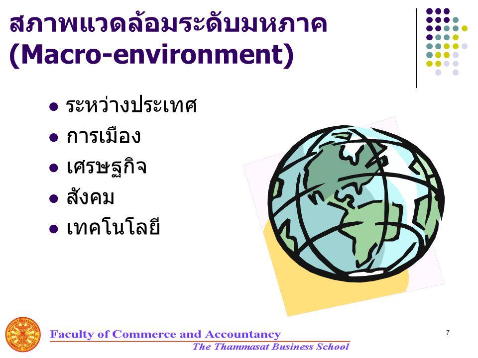 สภาพแวดล้อมระดับมหภาค (Macro-environment)