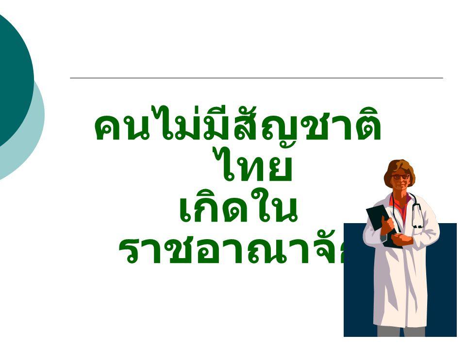 คนไม่มีสัญชาติไทย เกิดในราชอาณาจักร