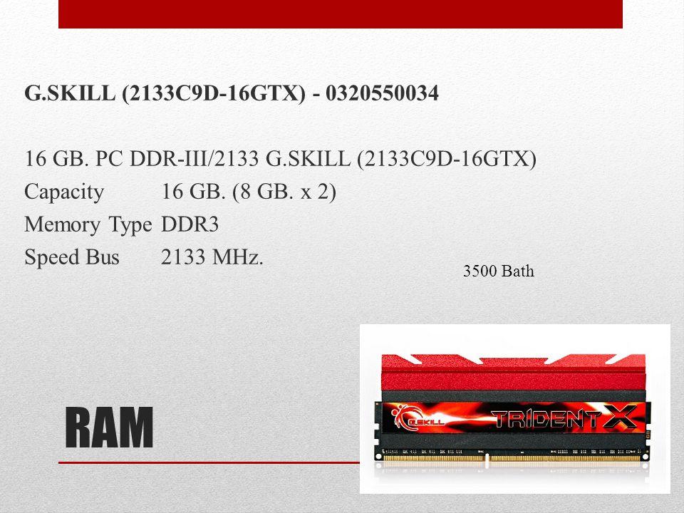 G. SKILL (2133C9D-16GTX) - 0320550034 16 GB. PC DDR-III/2133 G