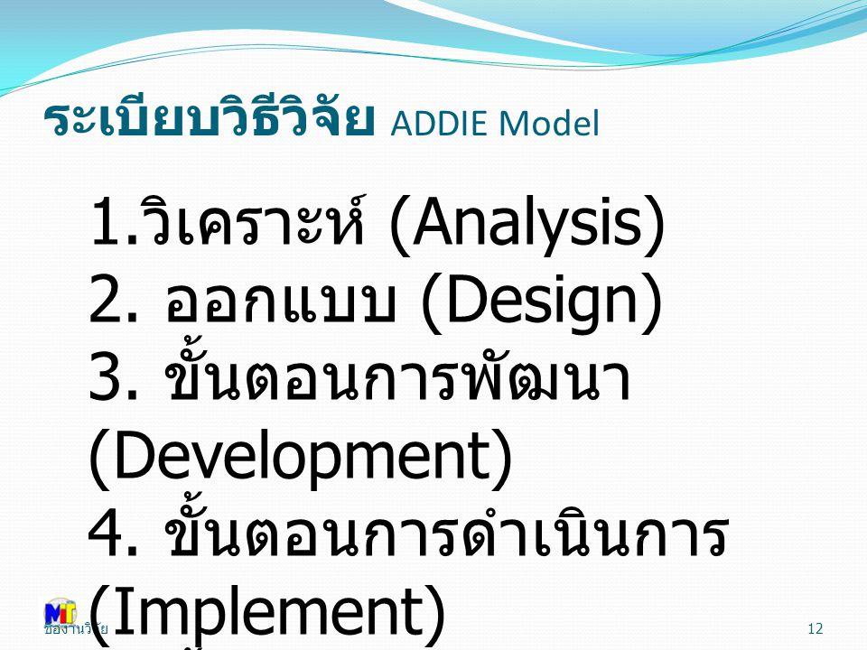 ระเบียบวิธีวิจัย ADDIE Model