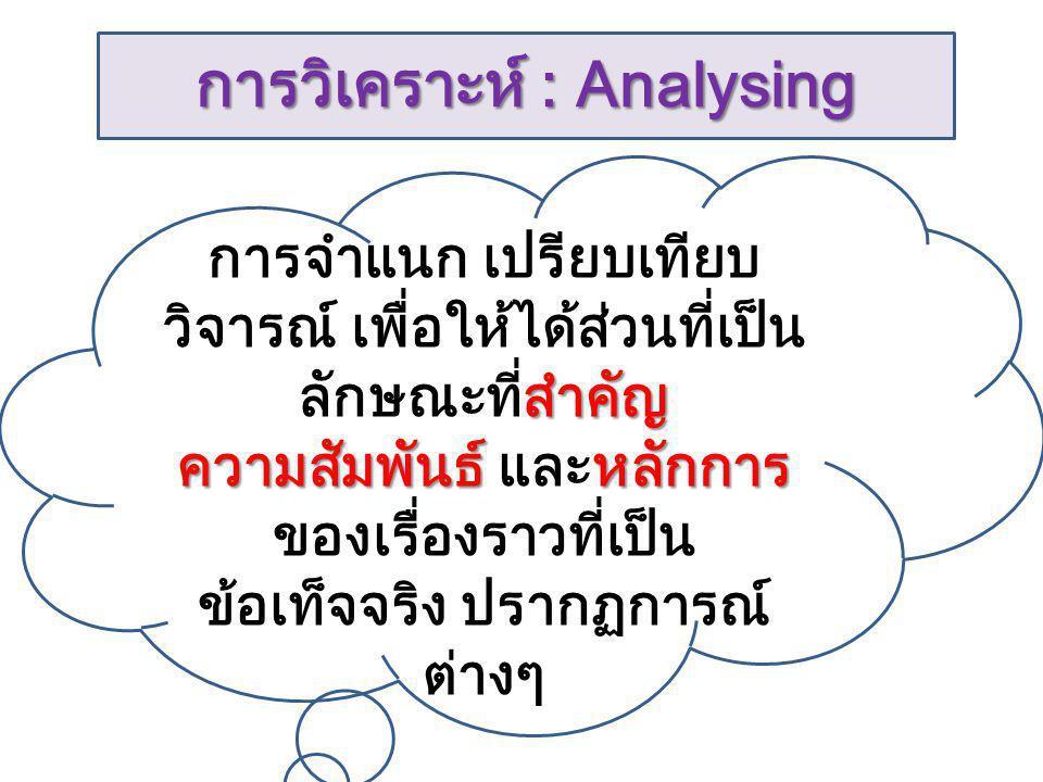 การวิเคราะห์ : Analysing