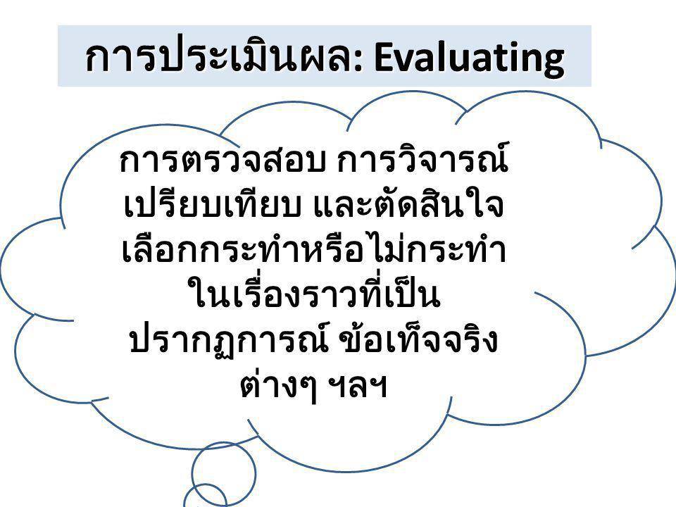 การประเมินผล: Evaluating