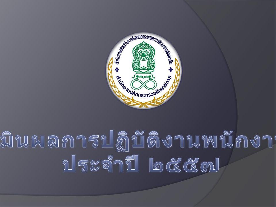 การประเมินผลการปฏิบัติงานพนักงานราชการ