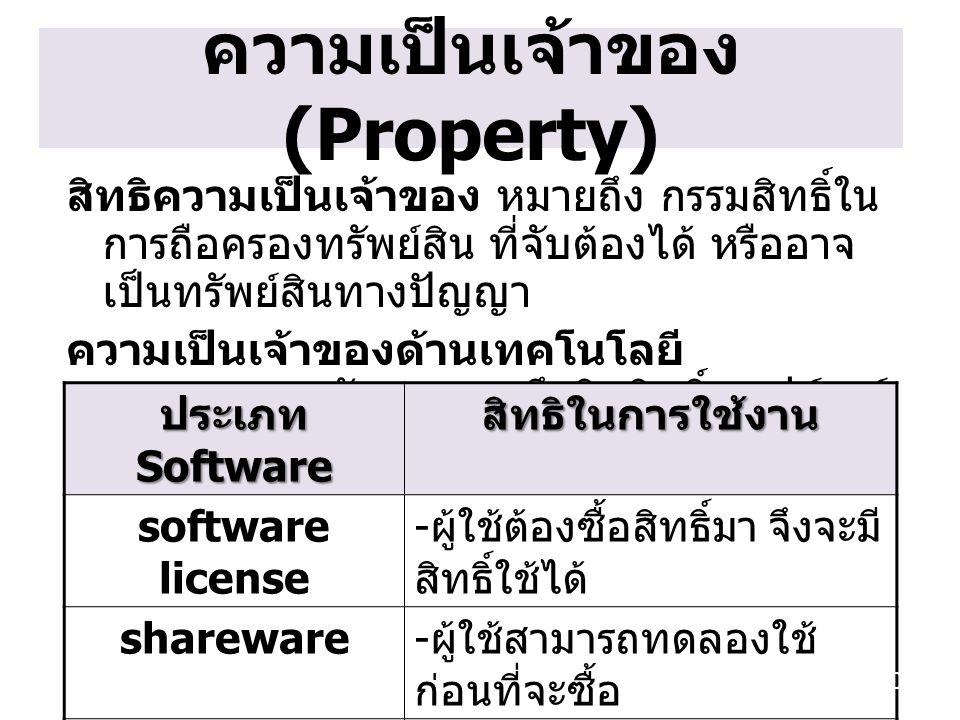 ความเป็นเจ้าของ (Property)