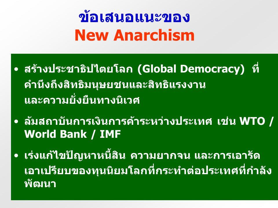ข้อเสนอแนะของ New Anarchism