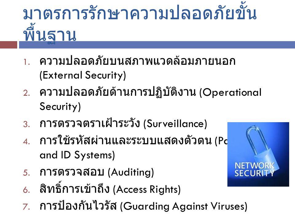 มาตรการรักษาความปลอดภัยขั้นพื้นฐาน