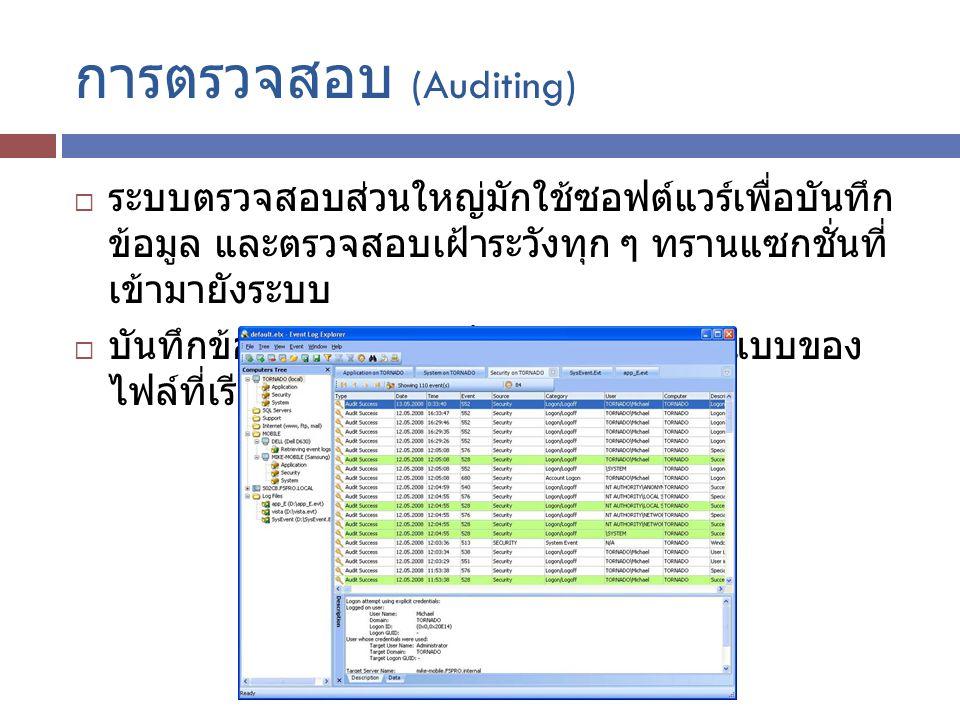 การตรวจสอบ (Auditing)