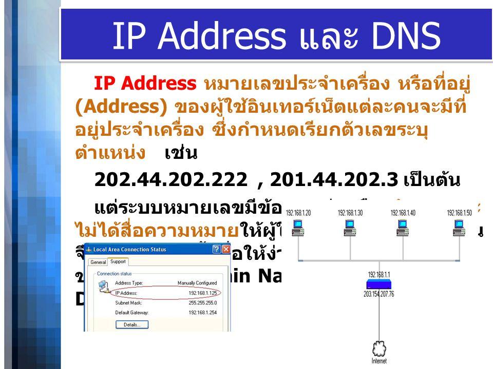 IP Address และ DNS