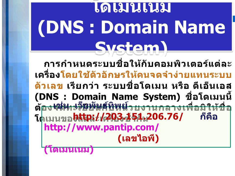 โดเมนเนม (DNS : Domain Name System)