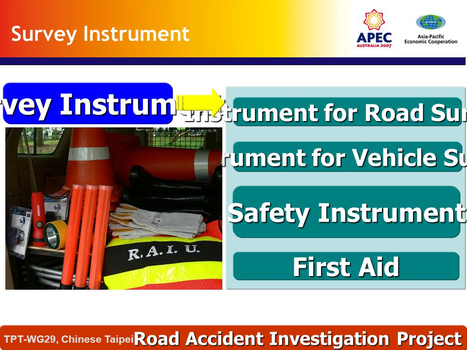 Instrument for Road Survey Instrument for Vehicle Survey