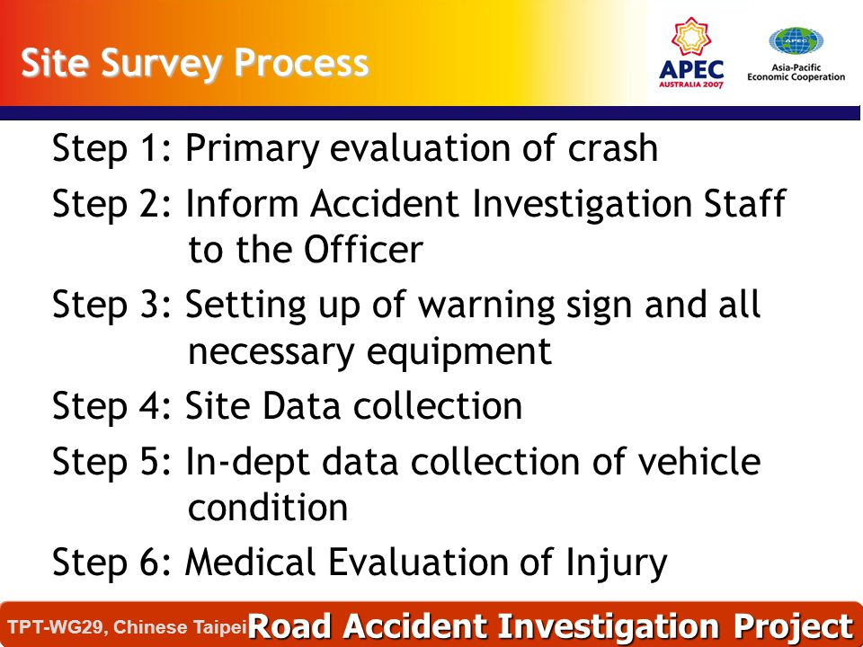 Step 1: Primary evaluation of crash