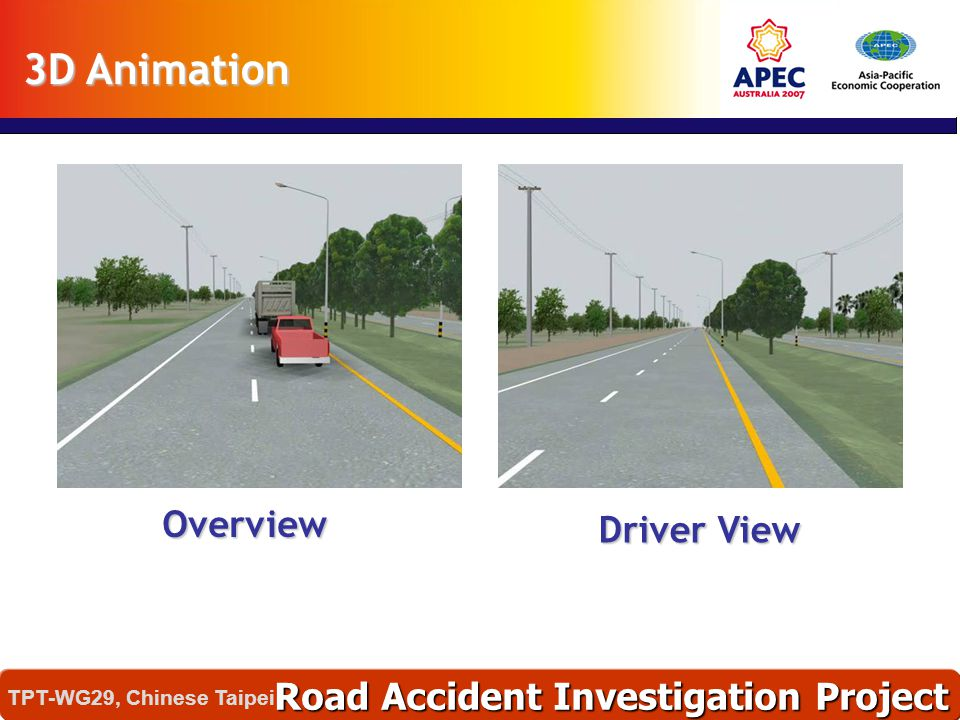 3D Animation Overview Driver View Road Accident Investigation Project