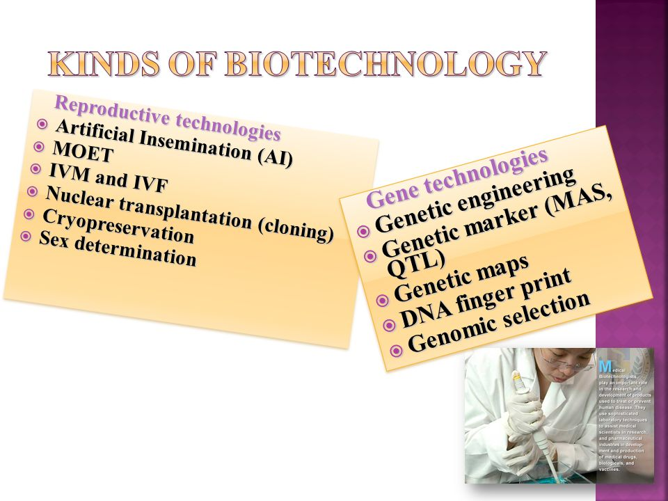 Kinds of biotechnology