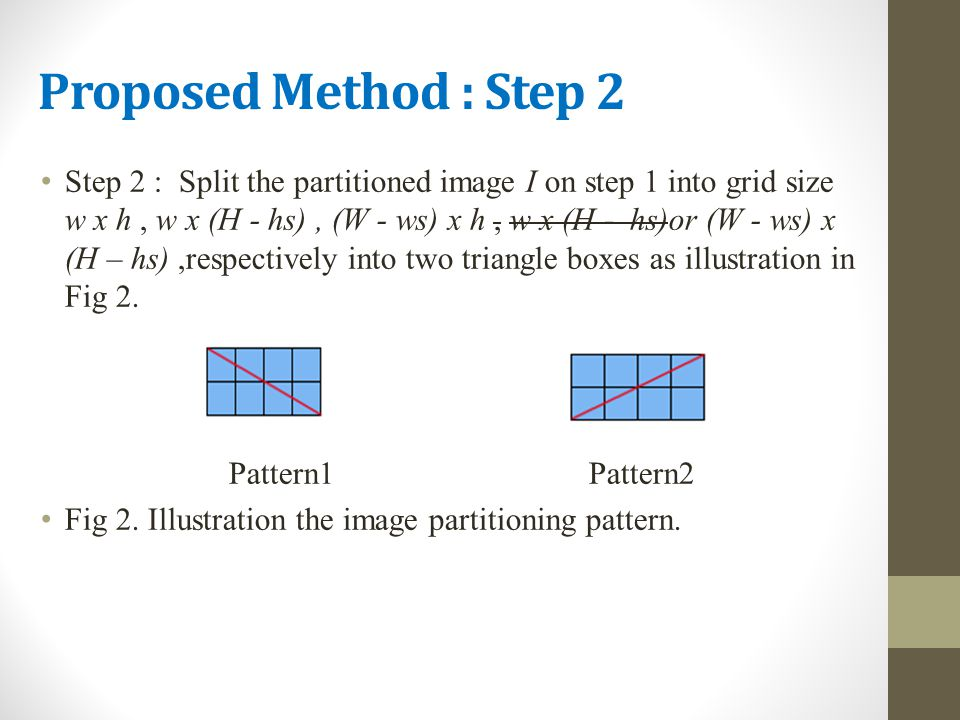 Proposed Method : Step 2