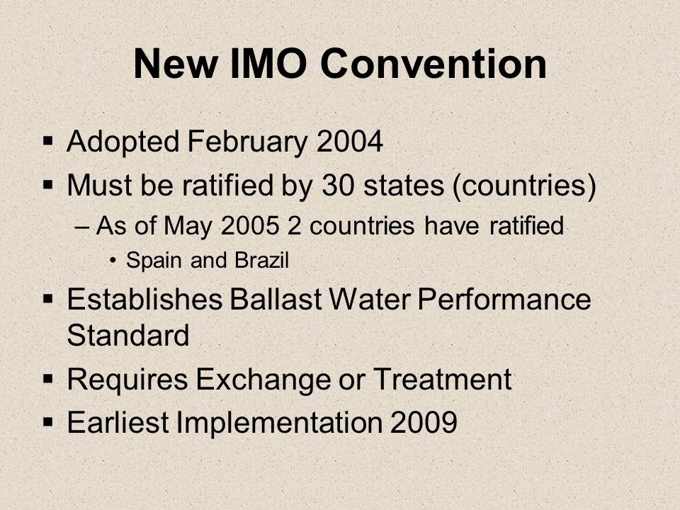 New IMO Convention Adopted February 2004