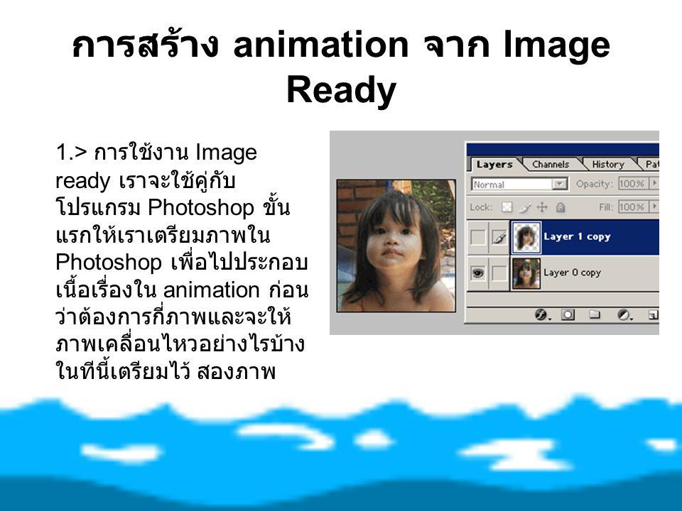 การสร้าง animation จาก Image Ready