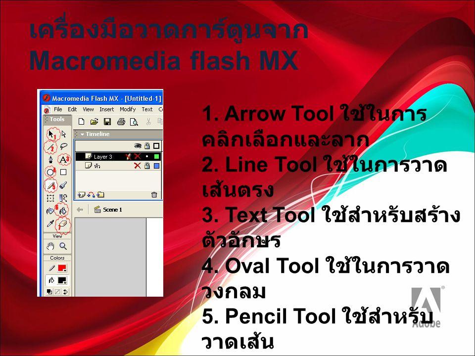 เครื่องมือวาดการ์ตูนจาก Macromedia flash MX