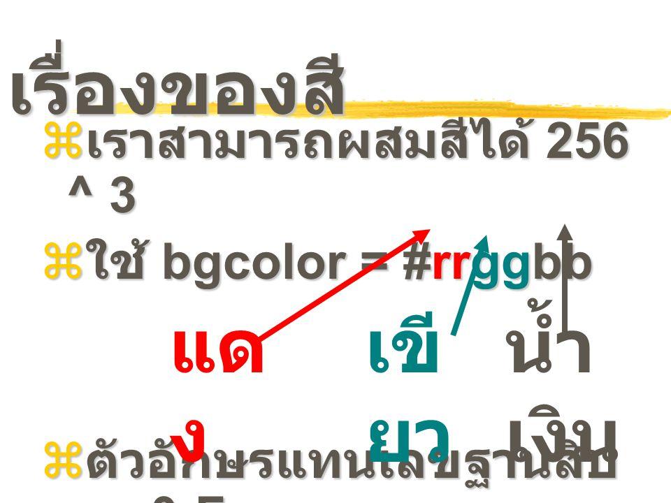 เรื่องของสี แดง เขียว น้ำเงิน เราสามารถผสมสีได้ 256 ^ 3