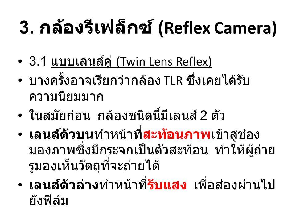 3. กล้องรีเฟล็กซ์ (Reflex Camera)