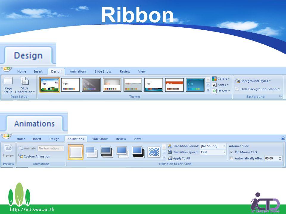 Ribbon http://ict.swu.ac.th