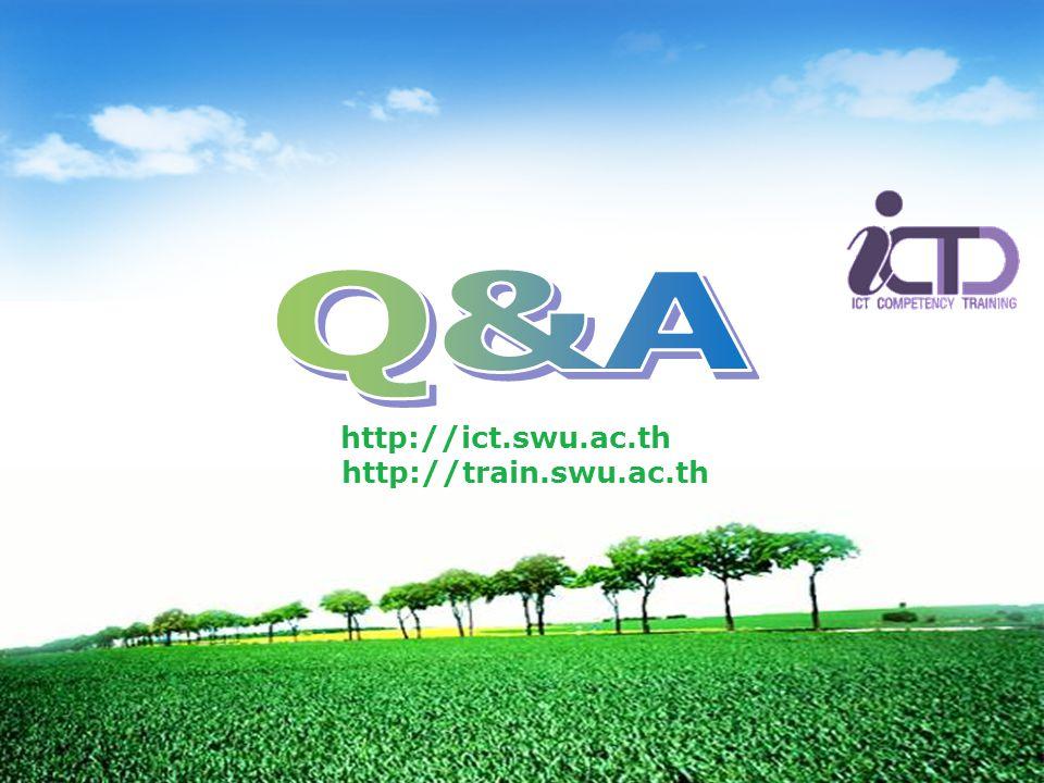 http://ict.swu.ac.th http://train.swu.ac.th