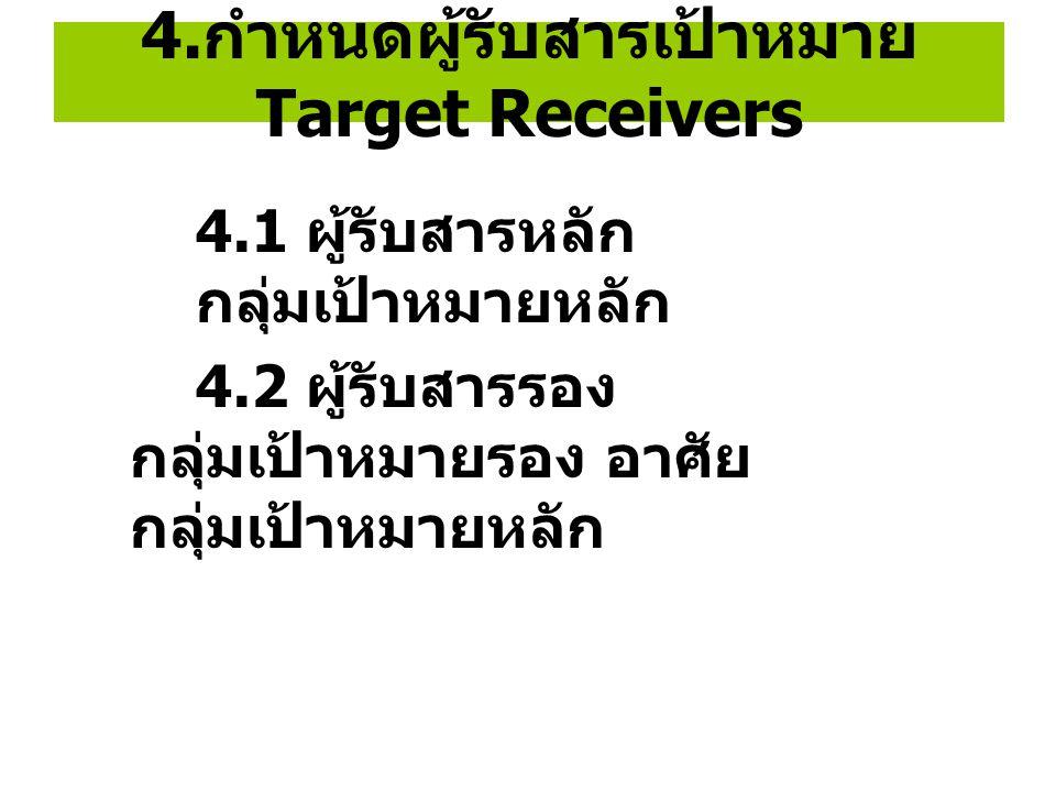 4.กำหนดผู้รับสารเป้าหมาย Target Receivers