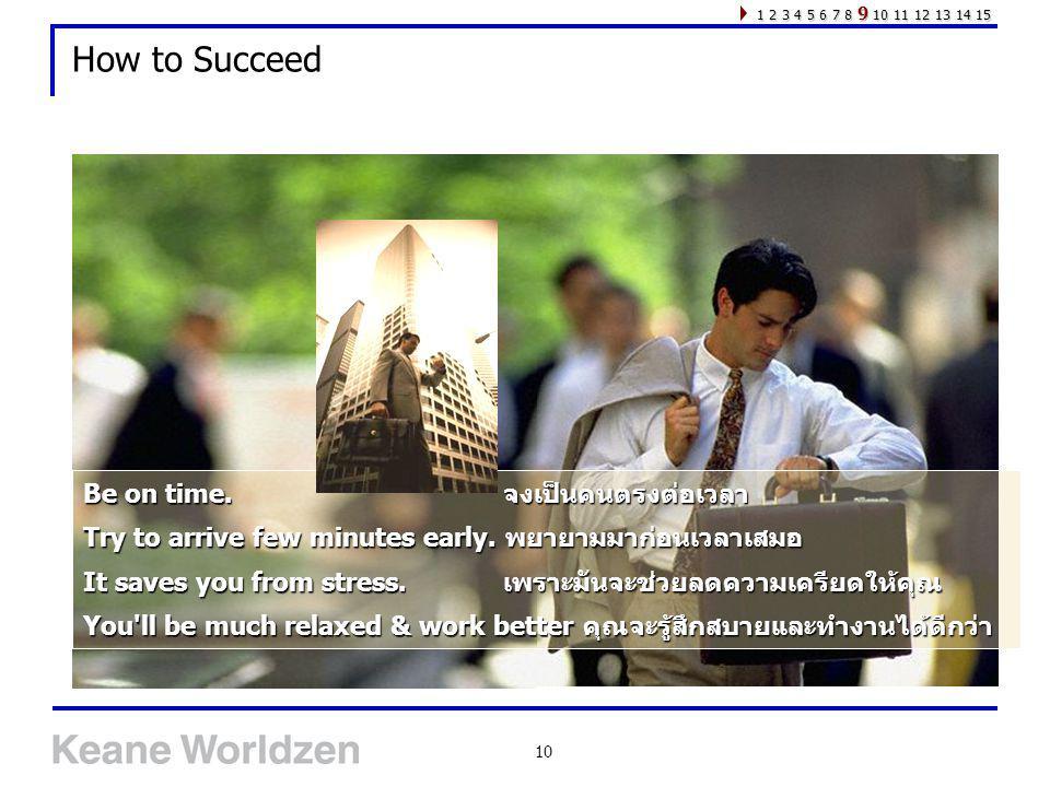 How to Succeed Be on time. จงเป็นคนตรงต่อเวลา