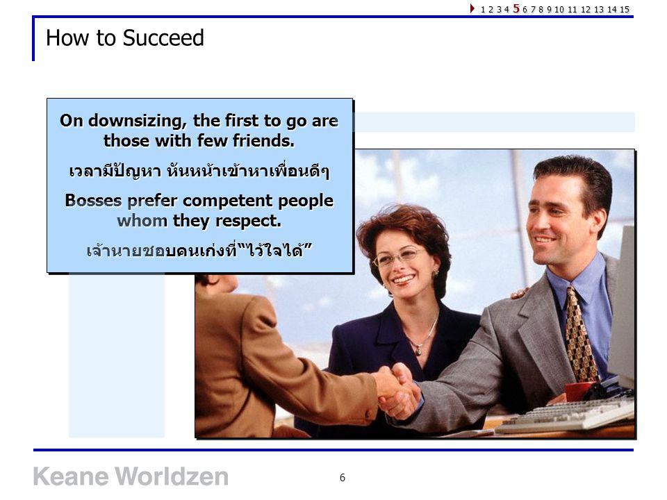 1 2 3 4 5 6 7 8 9 10 11 12 13 14 15 How to Succeed. On downsizing, the first to go are those with few friends.