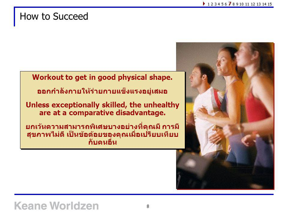 How to Succeed Workout to get in good physical shape.