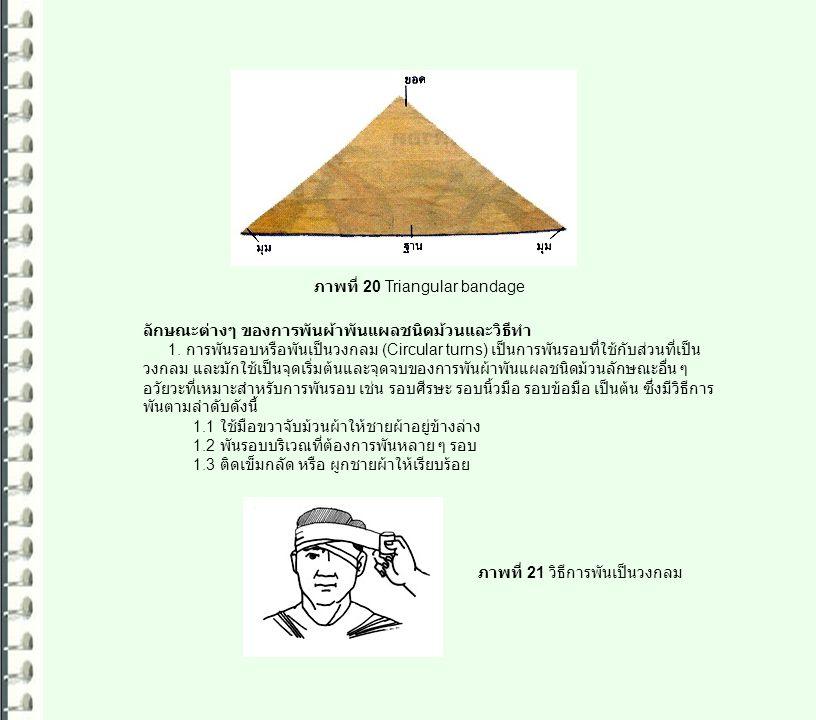ภาพที่ 20 Triangular bandage
