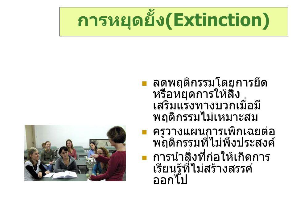 การหยุดยั้ง(Extinction)