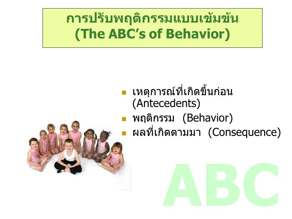 การปรับพฤติกรรมแบบเข้มข้น (The ABC's of Behavior)