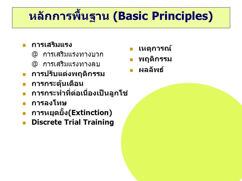 หลักการพื้นฐาน (Basic Principles)