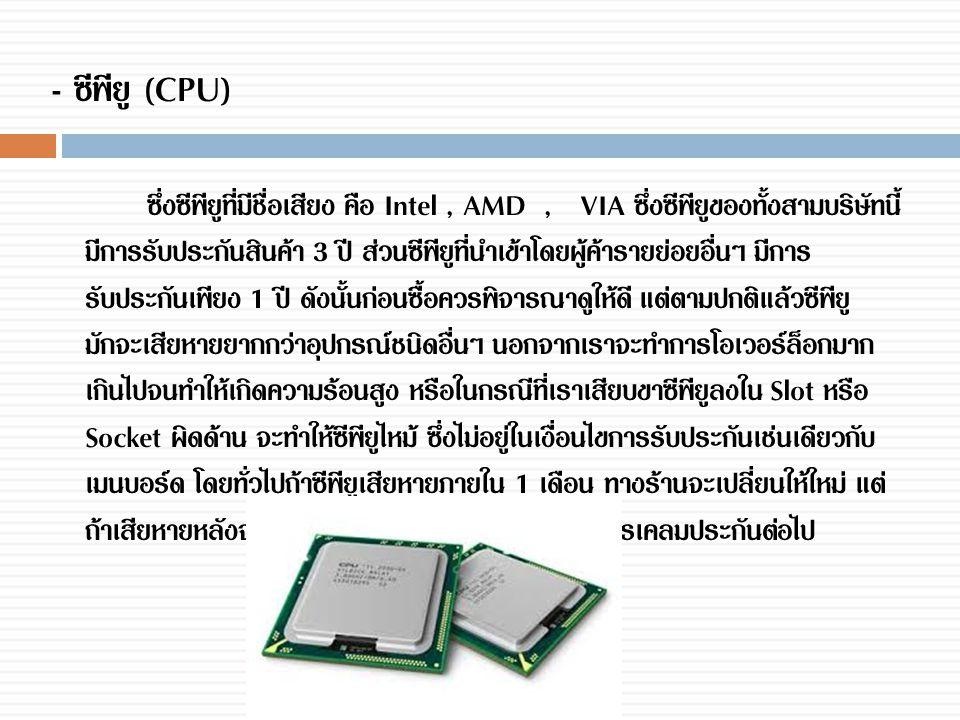 - ซีพียู (CPU)