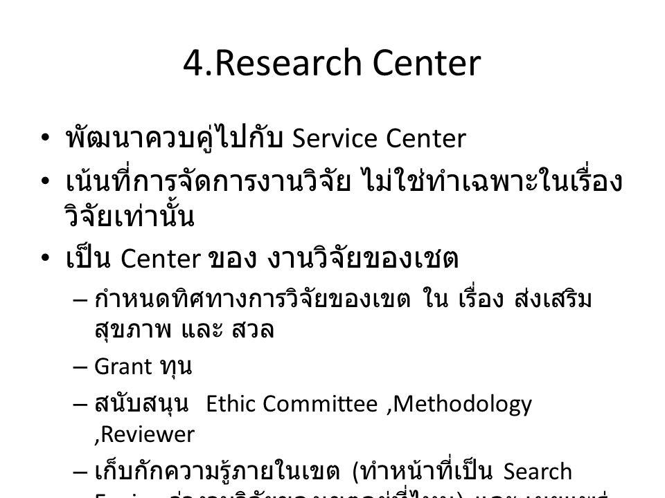 4.Research Center พัฒนาควบคู่ไปกับ Service Center
