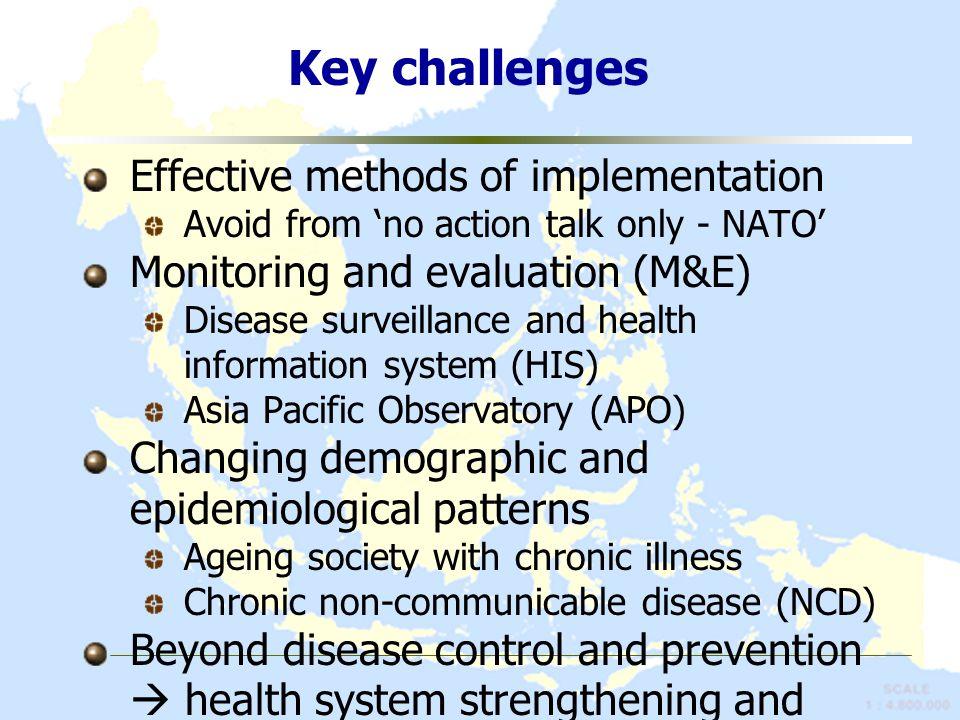 Key challenges Effective methods of implementation