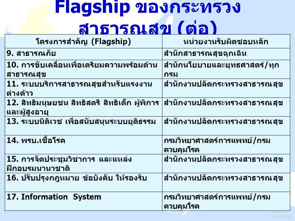 Flagship ของกระทรวงสาธารณสุข (ต่อ)
