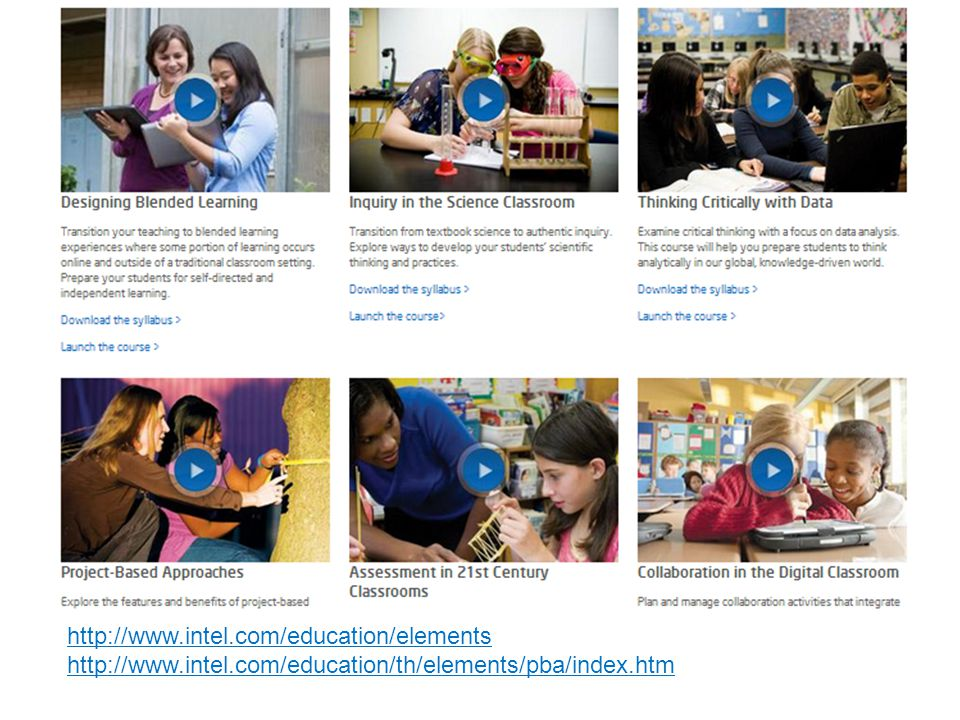 http://www. intel. com/education/elements http://www. intel