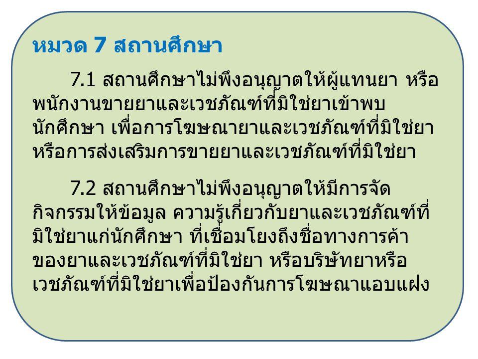 หมวด 7 สถานศึกษา