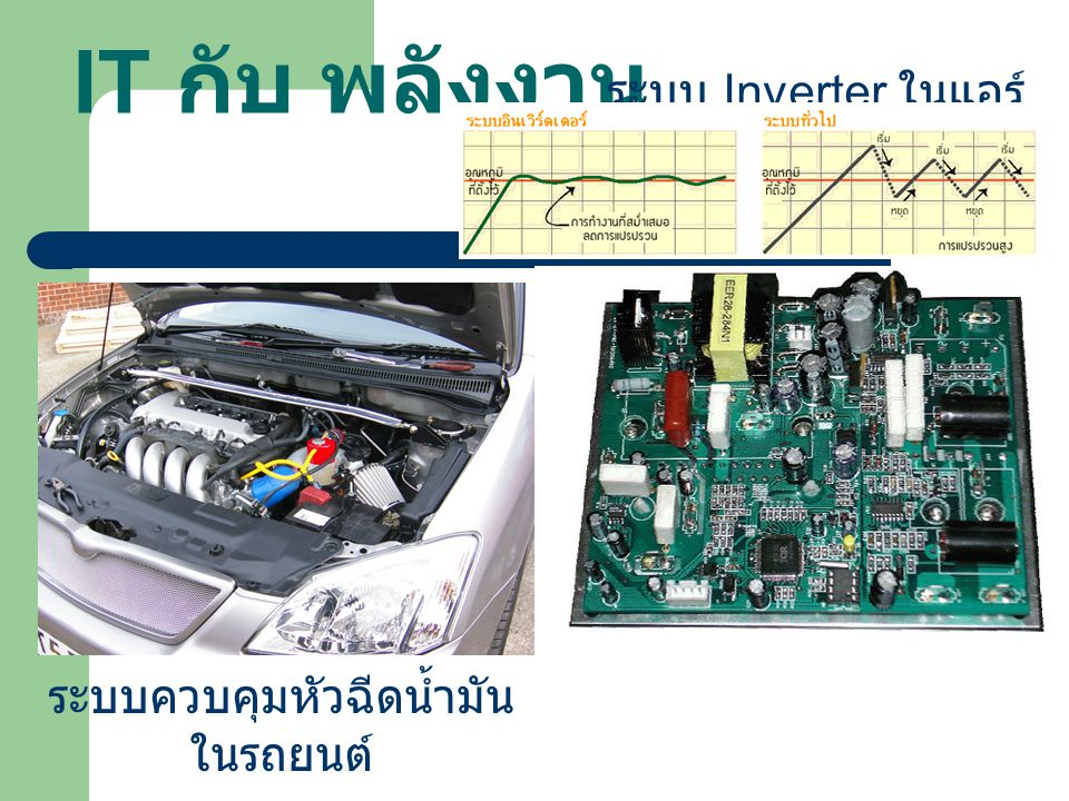 IT กับ พลังงาน ระบบ Inverter ในแอร์ ระบบควบคุมหัวฉีดน้ำมันในรถยนต์